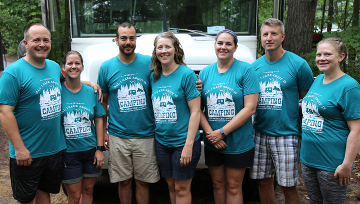 Camping Team Names iron on transfers